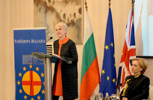 Ambassador Emma Hopkins OBE spoke on the EU Reform