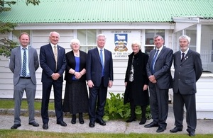 Mr Fallon with Falklands MLAs