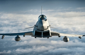 RAF Typhoon. Crown Copyright. Photo: via MOD.
