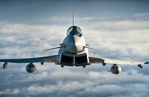 RAF Typhoon. Crown Copyright. Photo: via MOD.