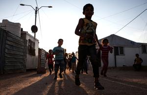 Syrian children in a refugee camp in Jordan. Picture: Jordi Matas/UNHCR