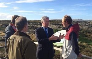 Mr Fallon in the Falkland Islands