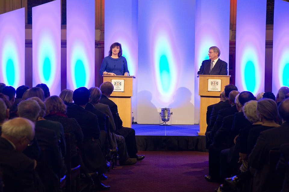 Nicky Morgan speaking st the City of London Corporation