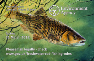 This year's trout and coarse fishing rod licence