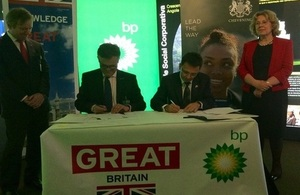 Official Signing of the Chevening/BP Partnership Agreement witnessed by the Lord Mayor of the City of London and the Prime Minister's Trade Envoy to Angola, Baroness Northover.
