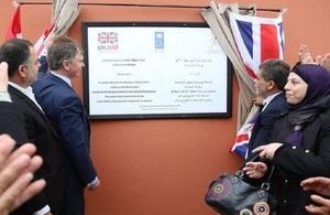 Ambassador Shorter inaugurates Water Tank in Bissarieh