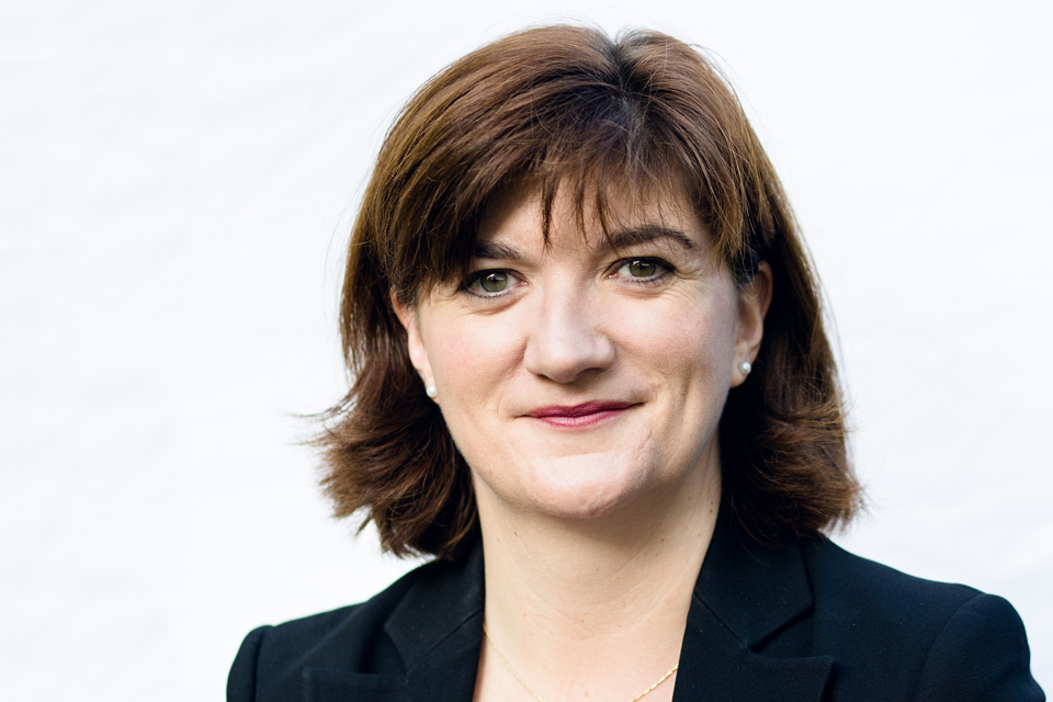 Nicky Morgan, Secretary of State for Education
