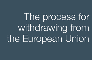 Policy Paper: The process for withdrawing from the EU