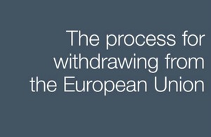 The process for withdrawing from the European Union