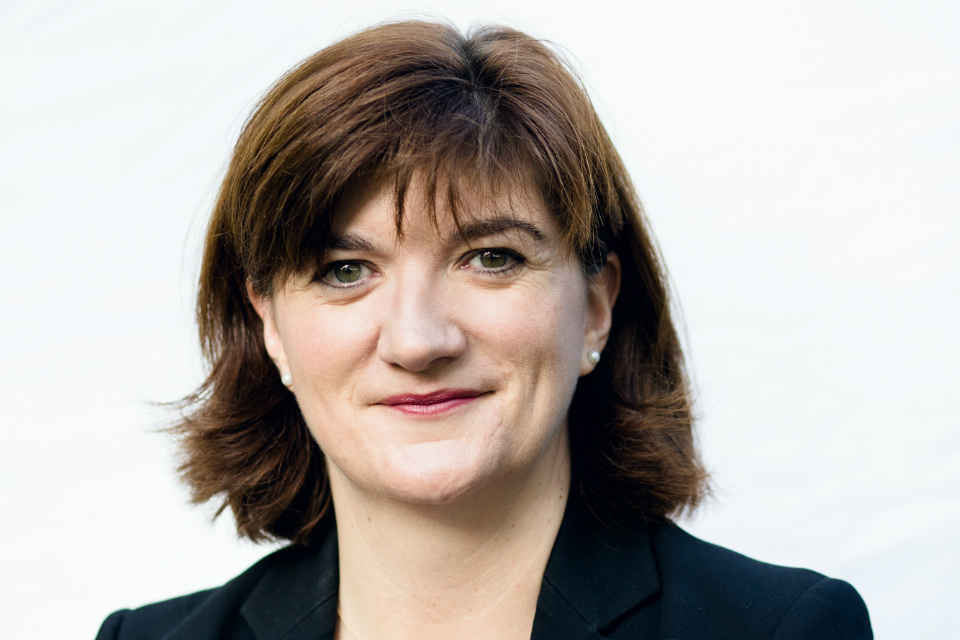 Minister for Women and Equalities, Nicky Morgan