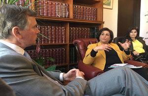 Ambassador Shorter with Dr Noha Ghosein