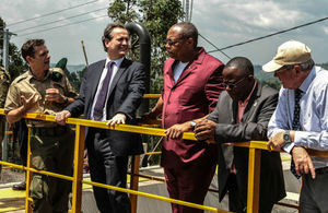 Minister Nick Hurd during his visit to the Matebe hydro-electric plant