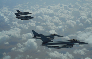 RAF Tornado and Typhoons.