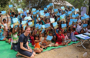 """Dr Bryony Mathew, the author of """"Sky Pods in Phnom Penh"""" and Deputy Ambassador of the Embassy"""