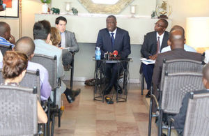 Dr Denis Mukegwe during the press conference