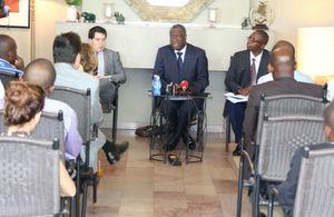 Dr Denis Mukwege au cours de la conférence de presse