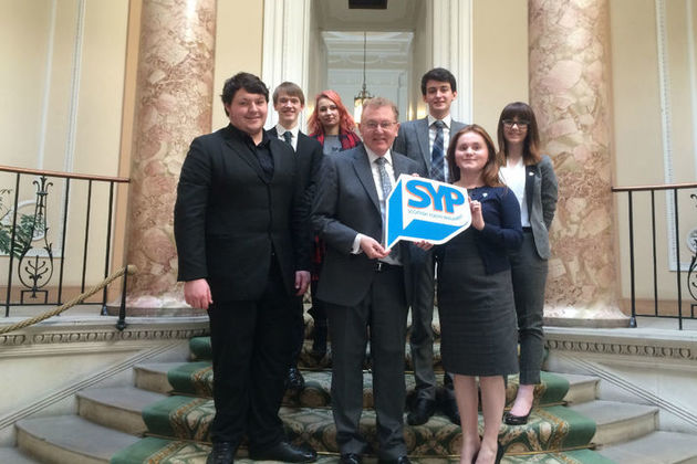 David Mundell and with members of the Scottish Youth Parliament