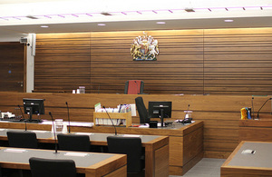A courtroom in the Crown Court