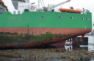 Merchant vessel aground