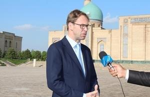 British Parliamentary Under Secretary of State visits Uzbekistan