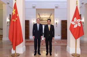 Foreign Secretary visits Hong Kong