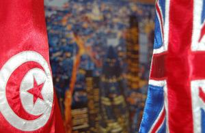 UK Tunisia flags