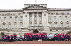 Prince Harry unveiling the 2016 British Invictus Games Team at Buckingham Palace