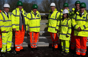 Roads Minister opens A138 Chelmer Viaduct.