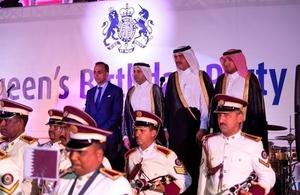 السفارة البريطانية في الدوحة تحتفل بعيد ميلاد جلالة الملكة لعام 2016