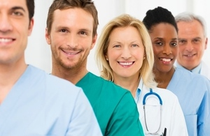 group of smiling medical staff