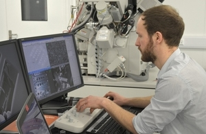 Scientist at the new material research facility (MRF)