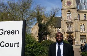 David Lammy outside Wood Green Crown Court