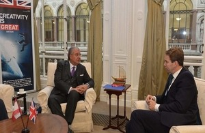 Minister Machnouk with Minister Ellwood in London