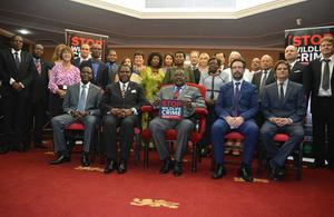 President Mutharika and the ambassadors