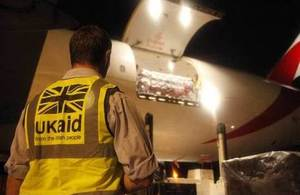 Aid loaded onto plane bound for Nepal