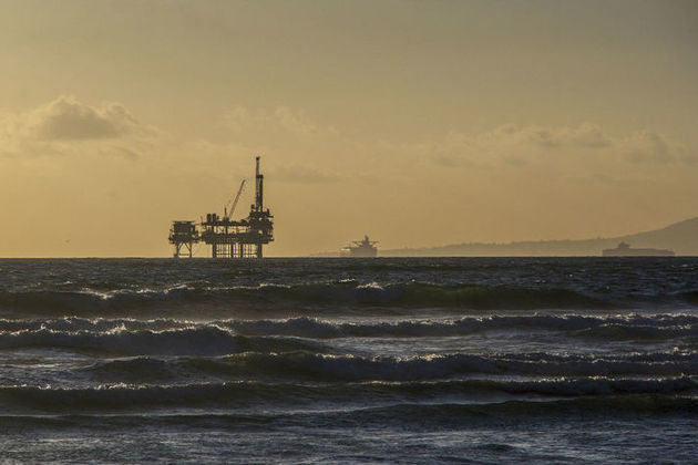 Photo of offshore oil platform