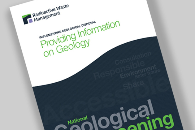 front cover of national geological screening guidance