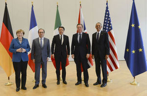 Read 'PM meeting with members of the G5'