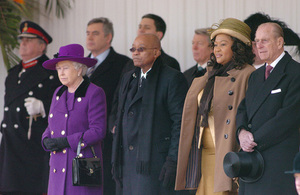 HM The Queen, President Jacob Zuma