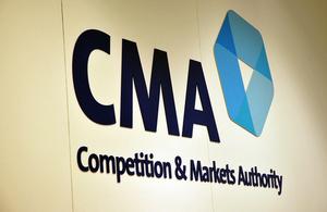 The CMA logo on a wall.