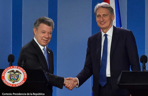 Foreign Secretary Hammond in Colombia
