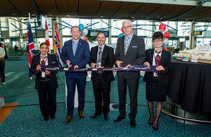 British Airways ribbon cutting ceremony at Vancouver International Airport