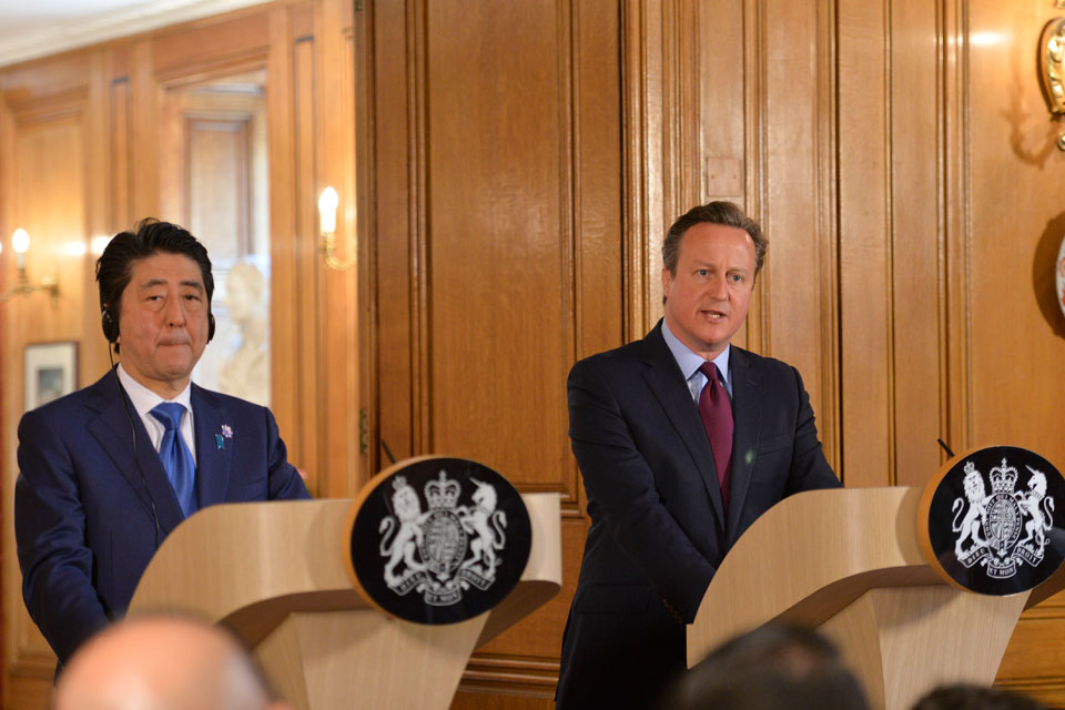 PM with PM Abe press conference