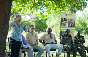 HE Alison Blackburne speaks at anti-trafficking facility hand-over event