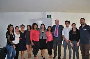 Ambassador Ross Denny with Raleigh project beneficiaries