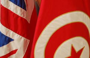UK Tunisian flags