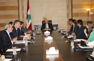 Meeting at the Serail with PM Tammam Salam
