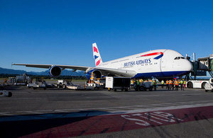 British Airways A380 at Vancouver International Aiport (Photo: YVR)