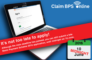 It's still not too late to apply - Rural Payments service on laptop
