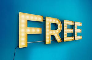 FREE written in lights